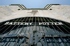 Bateryjni garncarek drzwi przy Piaskowatym haczykiem Nowym - bydło Fotografia Royalty Free