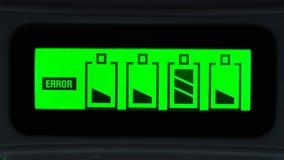Bateryjny ładunku błąd zdjęcie wideo