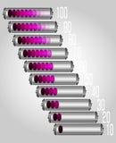 Bateryjny ładunek Sieci ikony pastylka, telefon (,) Fotografia Stock