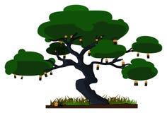 Bateryjny drzewo Obraz Royalty Free