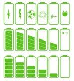 Bateryjny ikona set Set ładunek bateryjny poziom Obraz Royalty Free