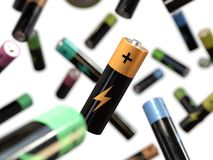 Bateryjny pojęcie władza i energia, ilustracji
