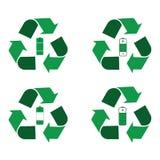 Bateryjny przetwarza logo Ilustracji