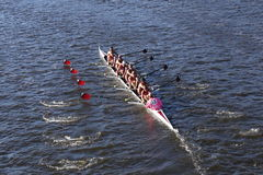 Bates College compete na cabeça da faculdade Eights de Charles Regatta Men Foto de Stock Royalty Free