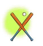 Bates de béisbol. Imagen de archivo libre de regalías