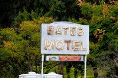 Bates Motel Sign immagini stock libere da diritti