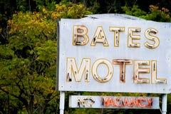 Bates Motel Sign royalty-vrije stock foto