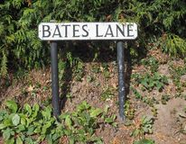 Bates pas ruchu w Tanworth w Arden fotografia royalty free