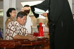 Batezzato in chiesa cattolica Fotografia Stock