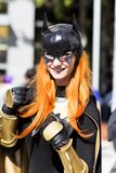 Batgirl Cosplay Royalty-vrije Stock Foto's