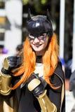 Batgirl Cosplay Royaltyfria Foton
