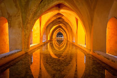 Bath à l'Alcazar réel, Séville Image libre de droits