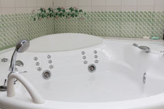 Bath. Modern style of bath with gydro massage Royalty Free Stock Photography