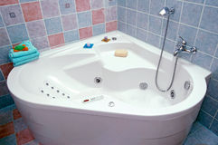 Bath. Photo of modern colorful bathroom Royalty Free Stock Photos