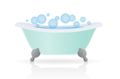 Bath. Cartoon Bath. Vector illustration on white background Stock Photos