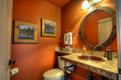 Bath. The bath room or rest room in a nice home Stock Photography