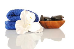 Bath. And aromatherapy still life isolated on white background Stock Photos