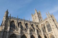 Bath Abbey. A Landmark Gothic Church in the City of Bath in Somerset England Royalty Free Stock Images