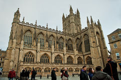 Bath Abbey Architecture Somerest England Royalty Free Stock Photography