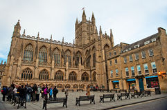 Bath Abbey Architecture Somerest England Stock Photos
