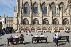 Bath Abbey basks in May sunshine Stock Images