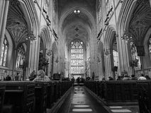 Bath Abbey in Bath in black and white Royalty Free Stock Photo