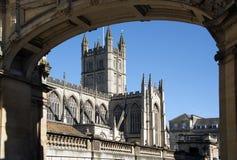 Bath Abbey Bath City Center. Bath Abbey underneath an archway Royalty Free Stock Image