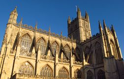 Bath Abbey Bath England sous le ciel bleu Photographie stock