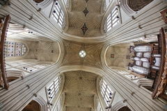 Bath Abbey, Bath, England. 17th century Fan vaulted ceiling. Bath Abbey, Bath, England. 17th century Fan vaulted ceiling Stock Image