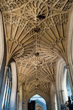 Bath Abbey corridor arches Royalty Free Stock Images