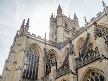 Bath Abbey in England Stock Image