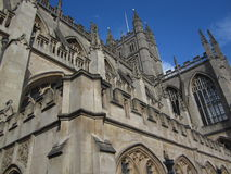 Bath Abbey. Exterior shot of the upper portion of Bath Abbey Royalty Free Stock Image