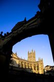 Bath Abbey framed by arch Royalty Free Stock Image
