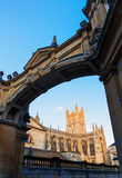Bath Abbey framed by arch Stock Photography