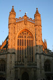 Bath Abbey and moon Royalty Free Stock Photography