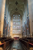 Bath Abbey Nave, Choir and stained glass Royalty Free Stock Photos