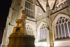 Bath Abbey at night Royalty Free Stock Photos