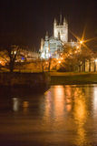 Bath Abbey at night Stock Images