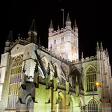 Bath Abbey at Night Stock Photography