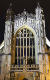 Bath Abbey at Night Stock Photos