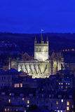 Bath Abbey at Night Stock Photo