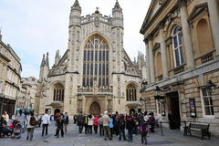 Bath Abbey and Roman Baths Stock Images