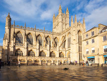 Bath Abbey Somerset England. The Abbey Church of Saint Peter and Saint Paul, Bath, commonly known as Bath Abbey, Somerset England UK Europe Royalty Free Stock Photos