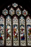 Bath Abbey Stained Glass Window Stock Images