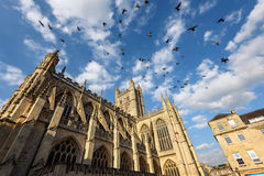 Bath Abbey UK. Bath Abbey is one of the major landmarks of Bath City, UK Stock Images