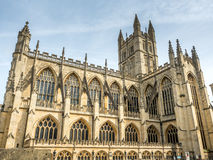 Bath Abbey under cloudy sky Royalty Free Stock Photography