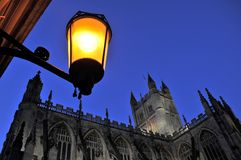 Bath Abby at Night Royalty Free Stock Image