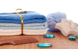 Bath accessories Royalty Free Stock Photo