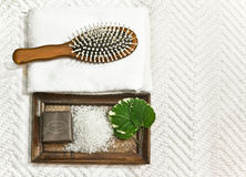 Bath accessories Stock Photography