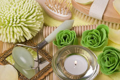 Bath accessories Stock Images